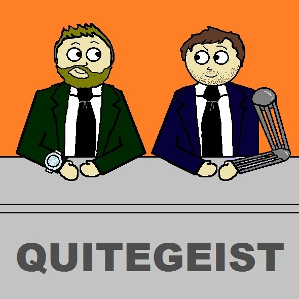 The Quitegeist Competition begins NOW. Listen for details of how to be in with a chance (or multiple chances) of winning. Also on this week's podcast, Des & Martin discuss the latest news and argue about the best pizza toppings. The Quitegeist Podcast: The news with a concussion.